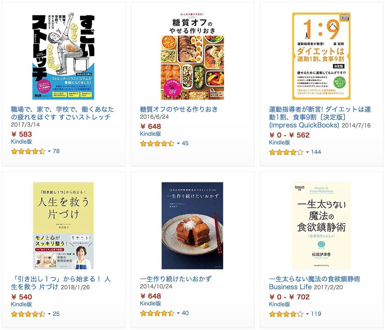 【Kindleセール】50%OFF「健康・ダイエット本セール」