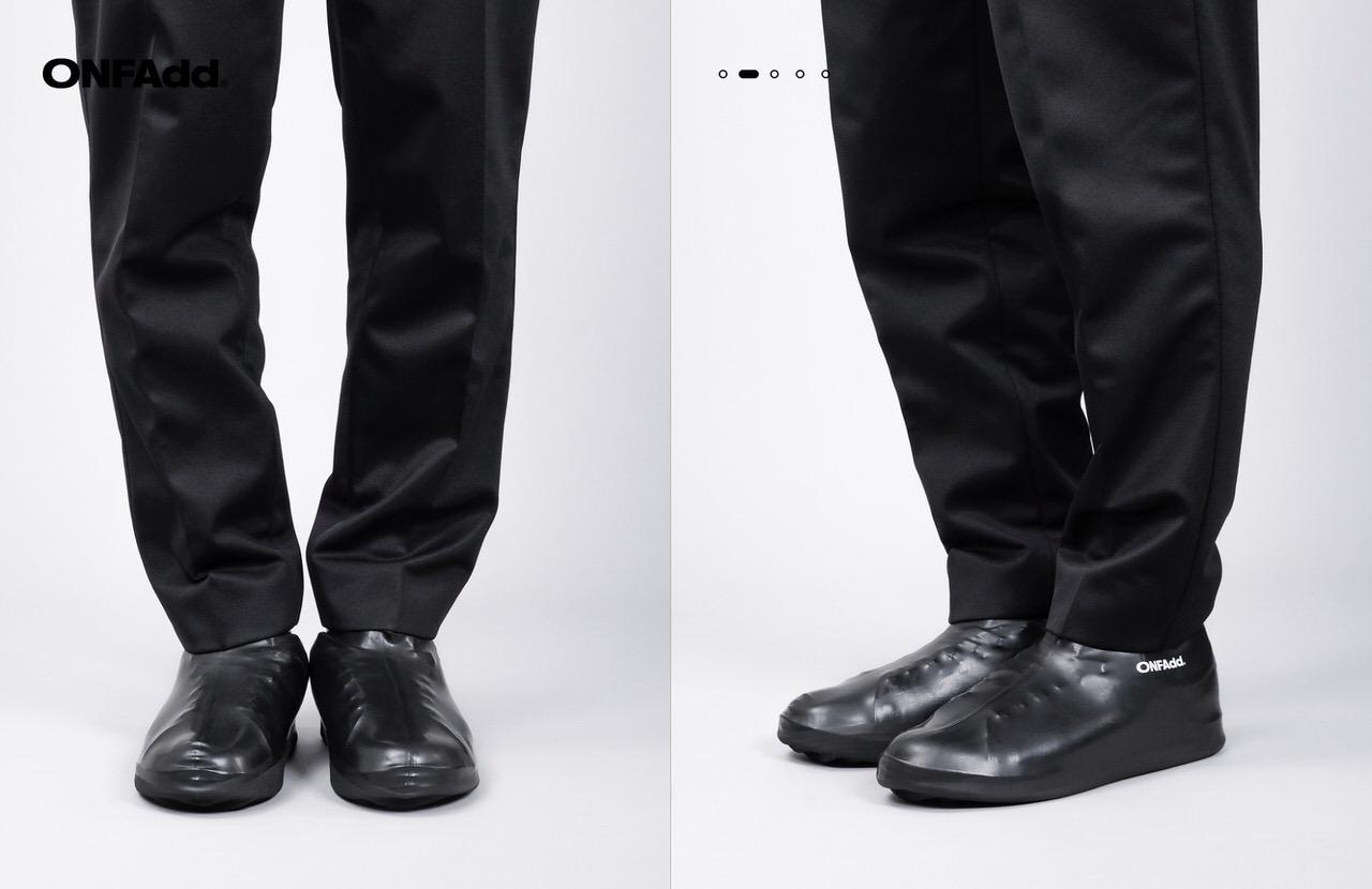 スニーカーの上から履けるレインカバー「RAIN SOCKS(レインソックス)」