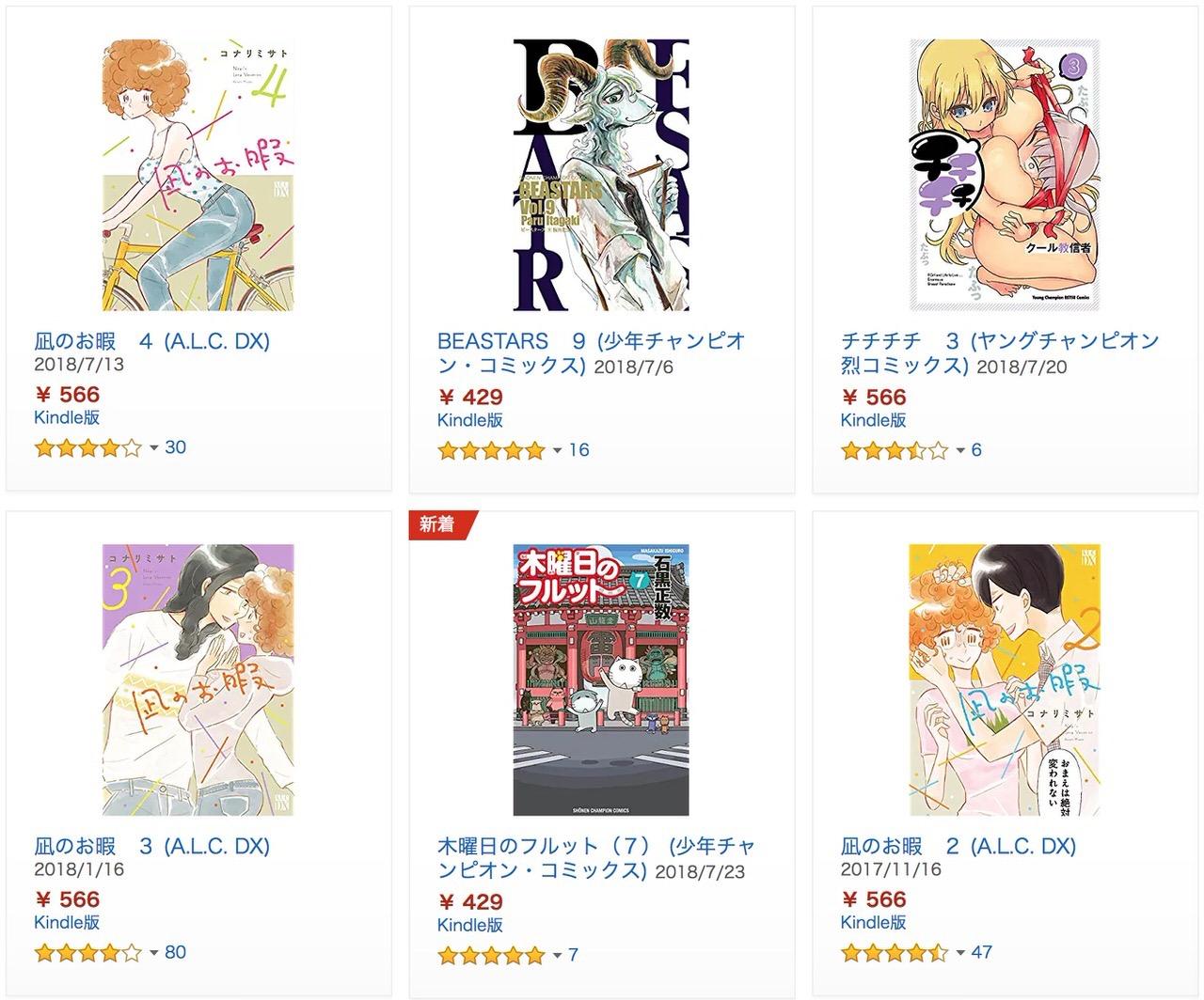 【Kindleセール】「50%ポイント還元 秋田書店セール<対象タイトル8,000点以上>」(8/16まで)