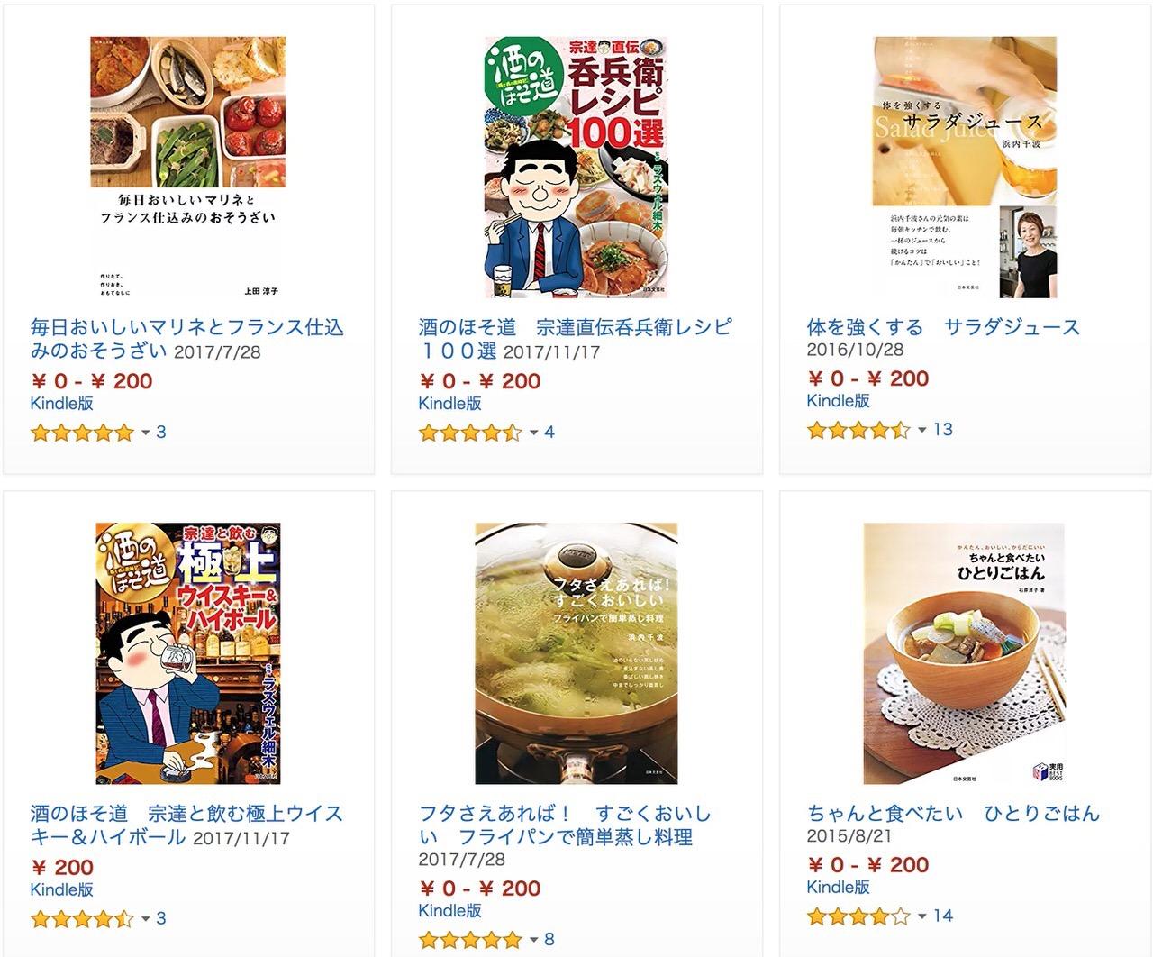 【Kindleセール】200円均一「おいしいレシピが満載!毎日使える料理本フェア」開催中(8/23まで)