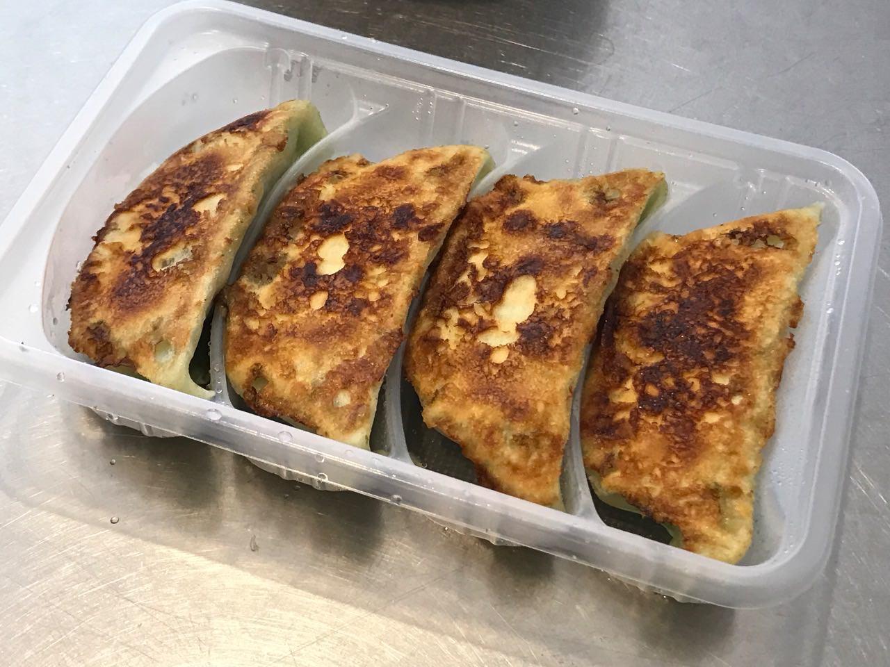 パクチー香る焼き餃子 完成