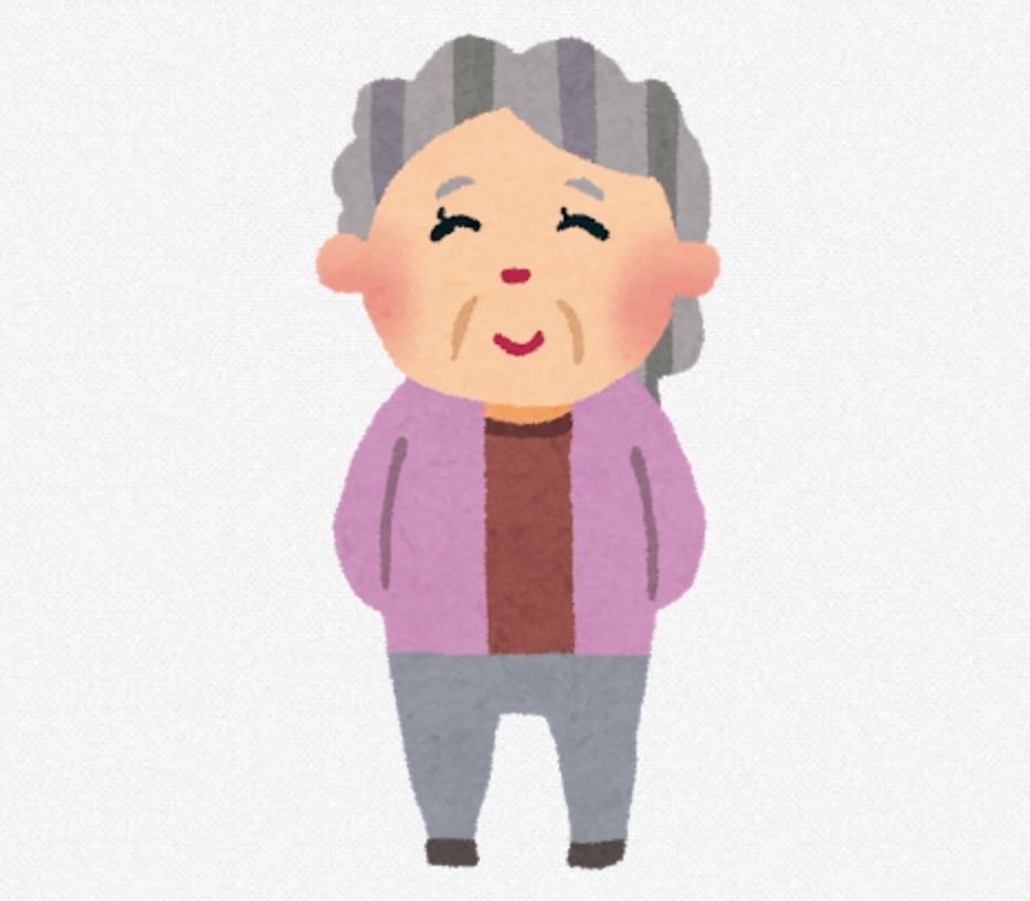 おばあさま・おばあちゃん・おばあさん・ババア・おばちゃまの分布図