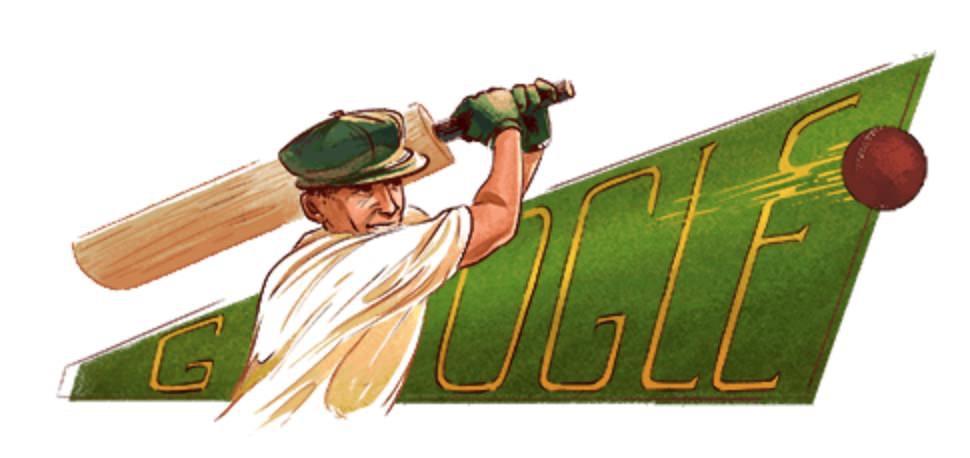 Googleロゴ「ドナルド・ブラッドマン」に