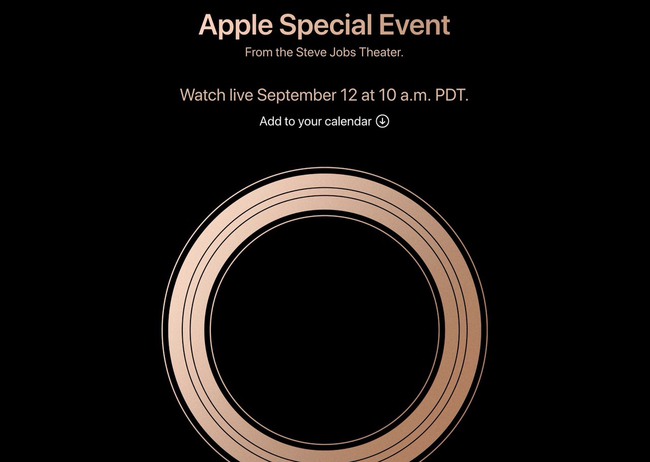 Apple「Special Event」2018年9月12日に開催と発表