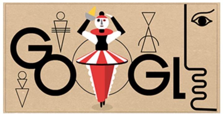 Googleロゴ「オスカー・シュレンマー」に