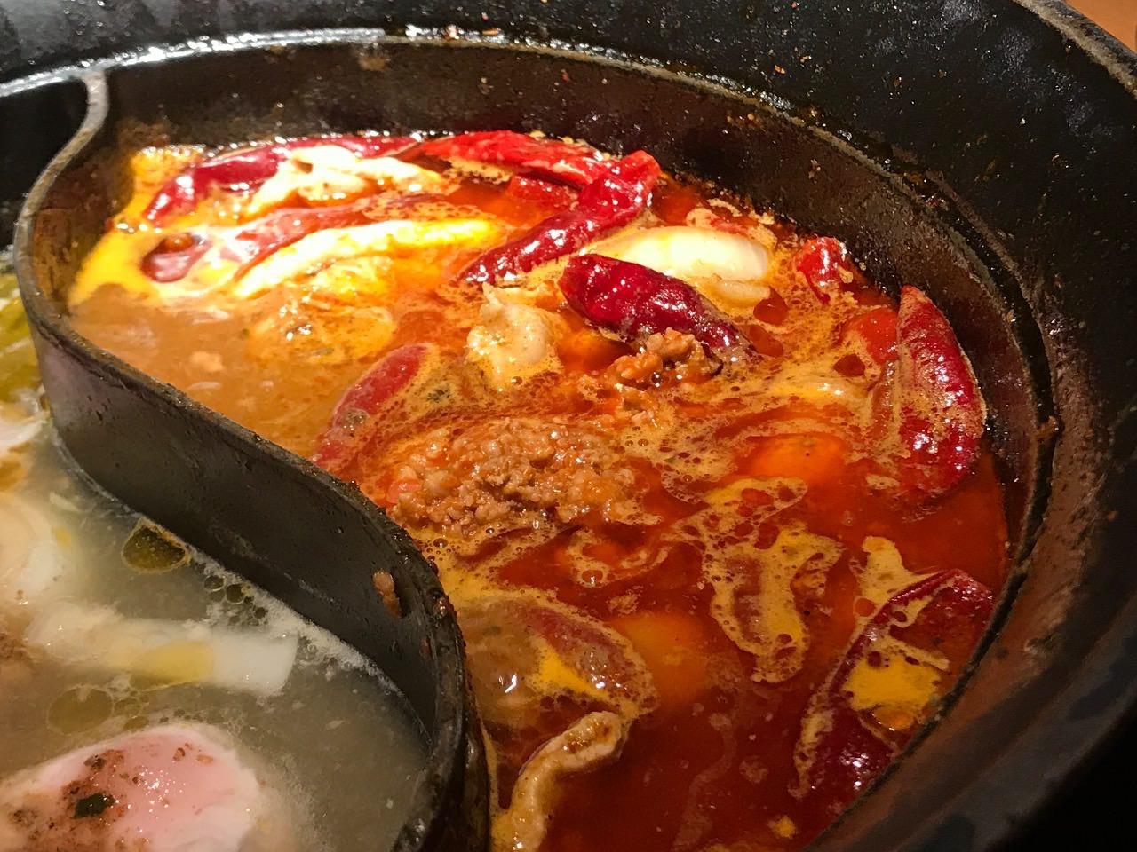 麻辣肉鍋に肉味噌