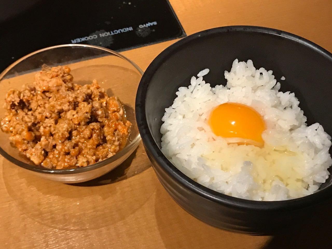 肉味噌とTKG