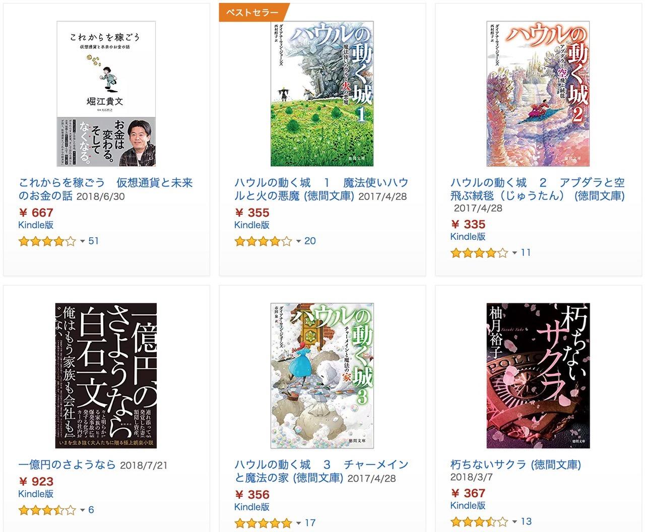 【Kindleセール】1,300冊以上が対象「徳間書店 書籍50%OFFセール」(9/13まで)