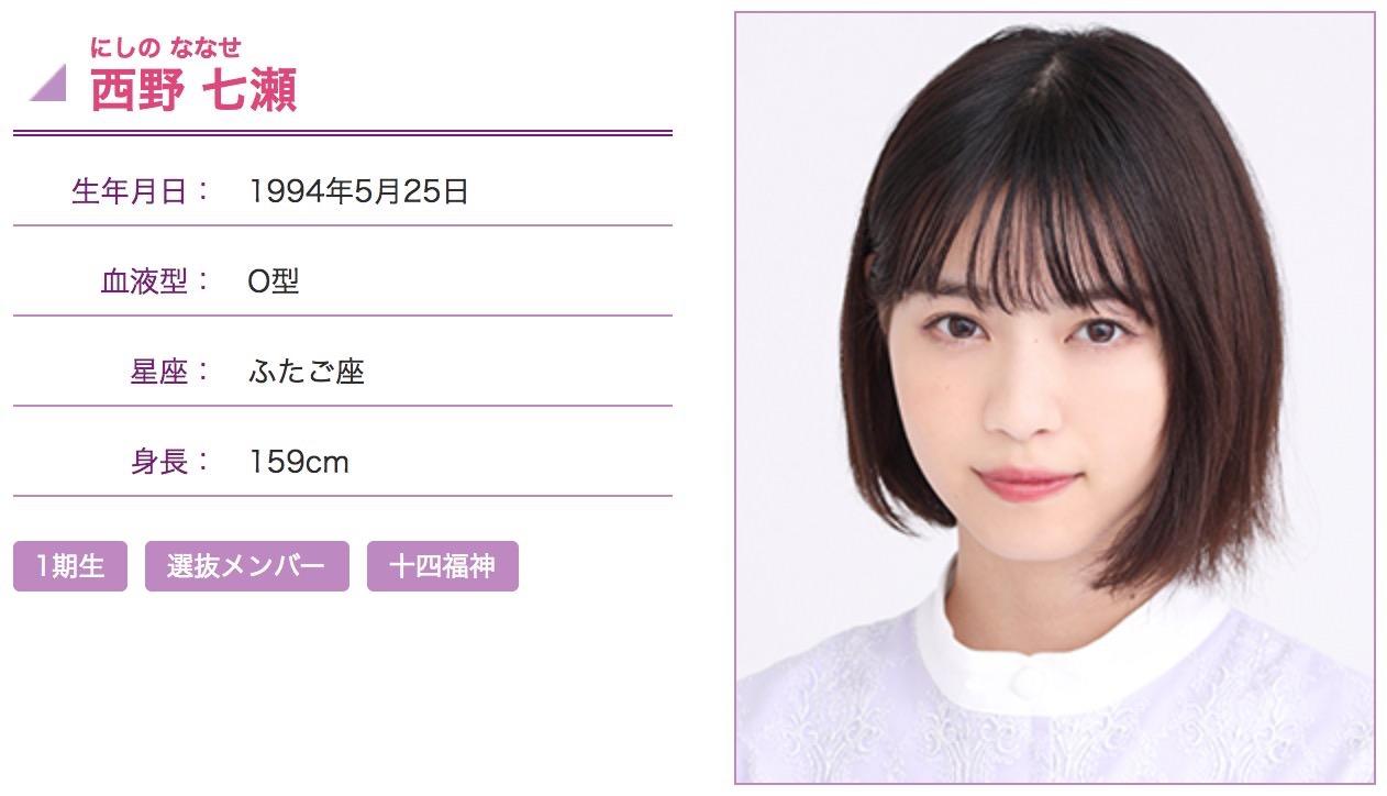 乃木坂46・西野七瀬、グループから卒業を発表