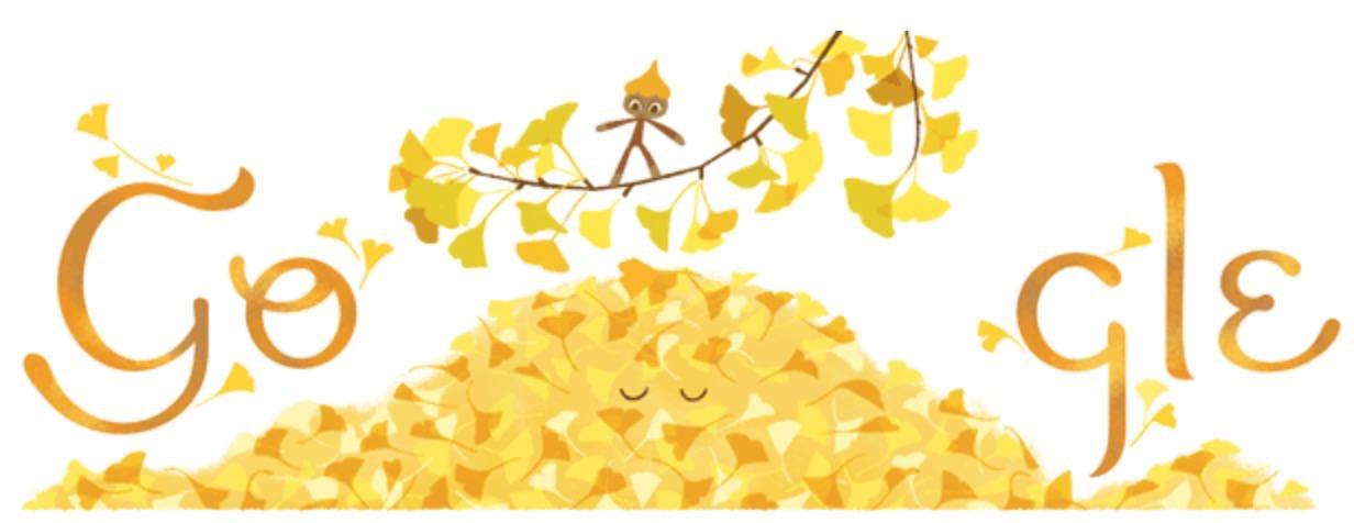Googleロゴ「秋分の日」に