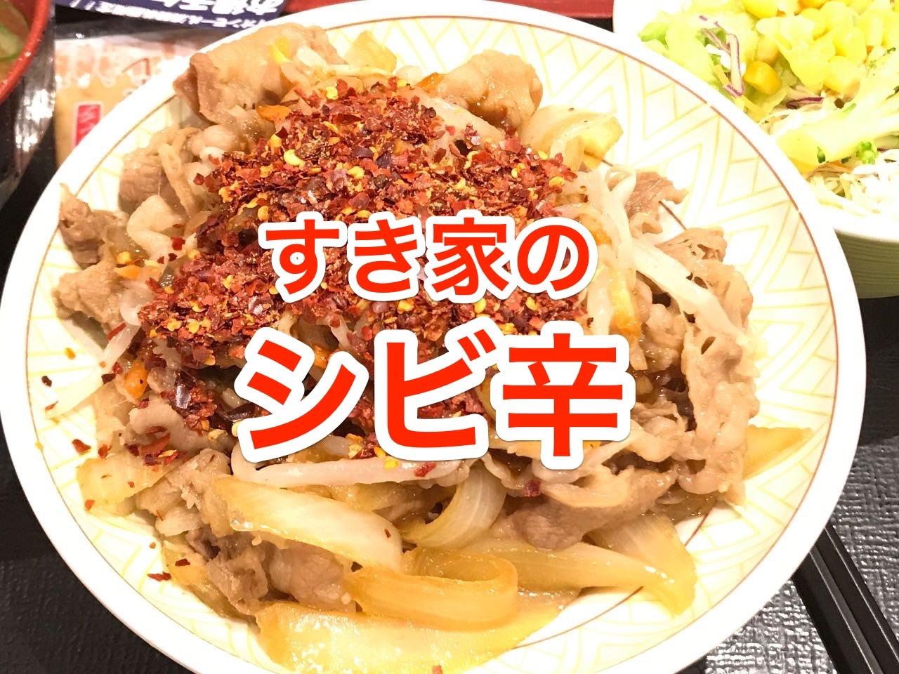 【すき家】「しび辛もやし牛丼」花椒と唐辛子で真っ赤な牛丼が美味い【感想】