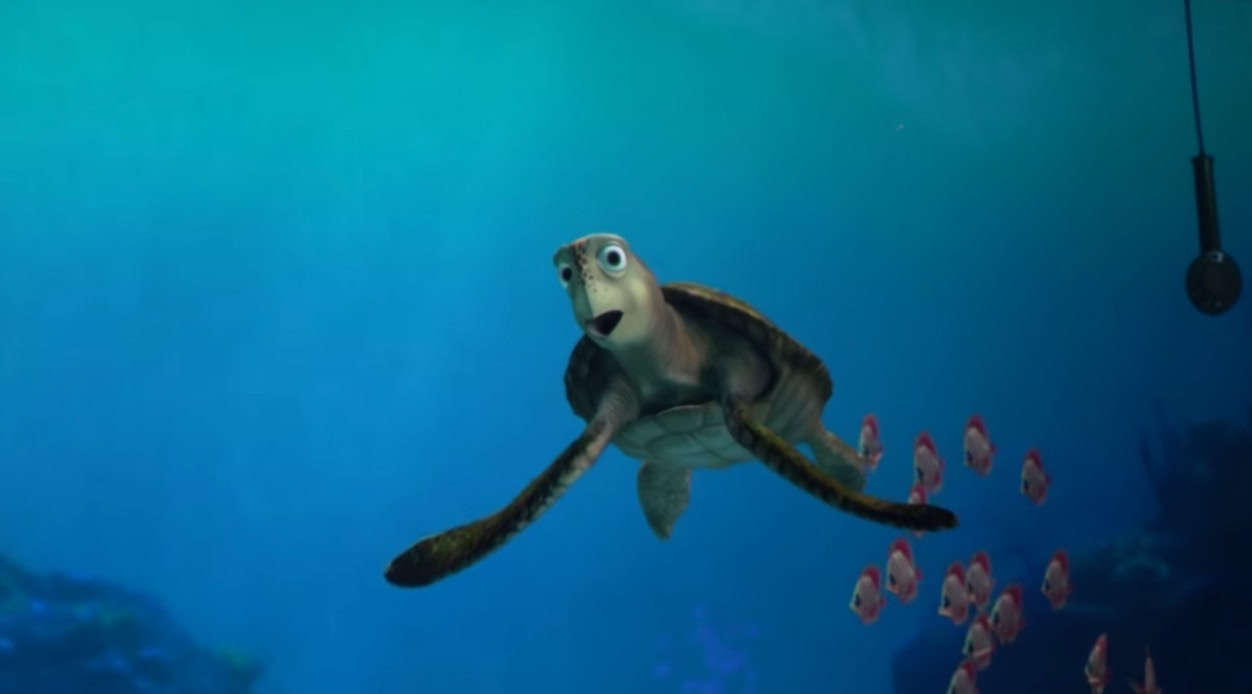 【動画】東京ディズニーシー「タートルトーク」ウミガメのクラッシュに禁断の質問が‥‥