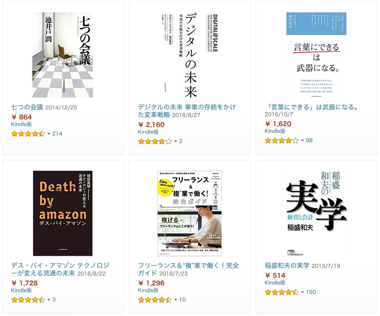 【Kindleセール】850冊対象「日本経済新聞出版 50%ポイント還元」セール開催中(10/11まで)
