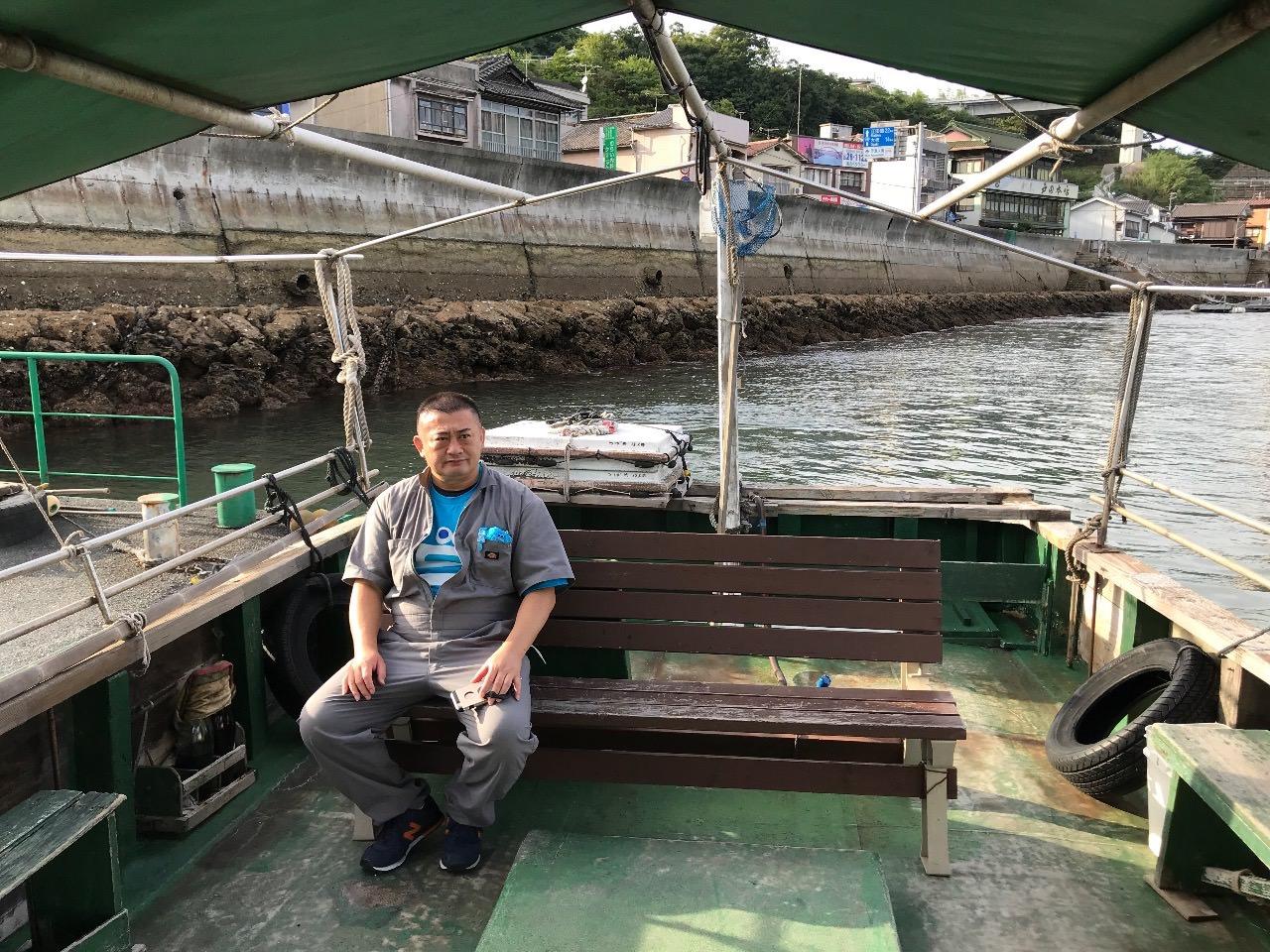 日本一短い海峡の渡し船が広島県呉市の「音戸渡船」