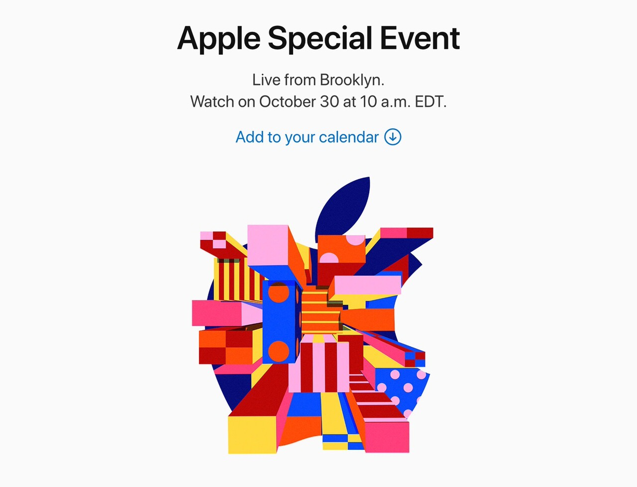 Apple、ブルックリンで「Apple Special Event」2018年10月30日に開催を発表
