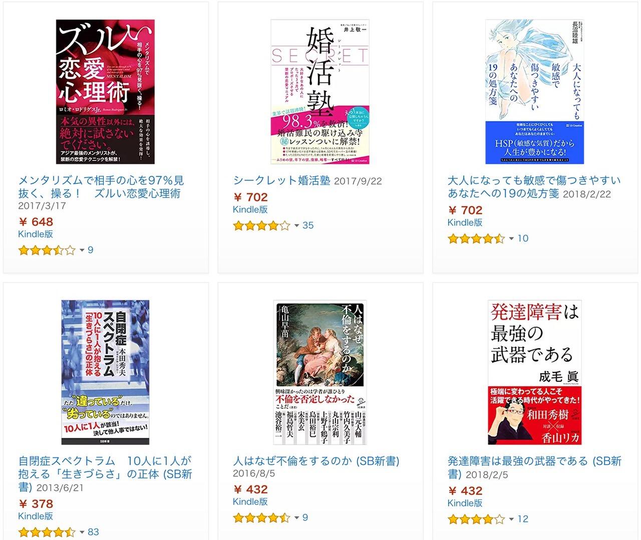 【Kindleセール】50%OFF「こっそり買いたい本」(11/1まで)