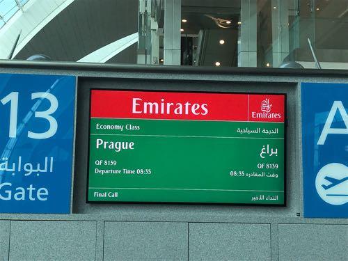 エミレーツ航空 A380ドバイ国際空港→プラハ国際空港 #チェコへ行こう #cz100y