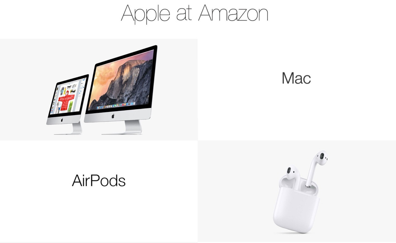 Amazon、MacやiPhoneなどのApple製品を販売