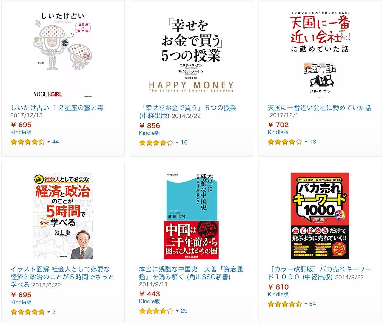 【Kindleセール】約800冊が対象!最大70%OFF「KADOKAWA 秋の雑学&教養本フェア」開催中(11/29まで)