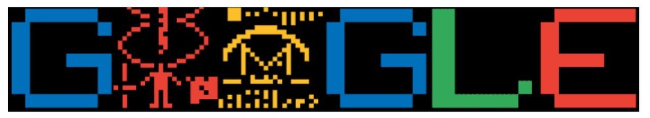 Googleロゴ「アレシボ・メッセージ」に