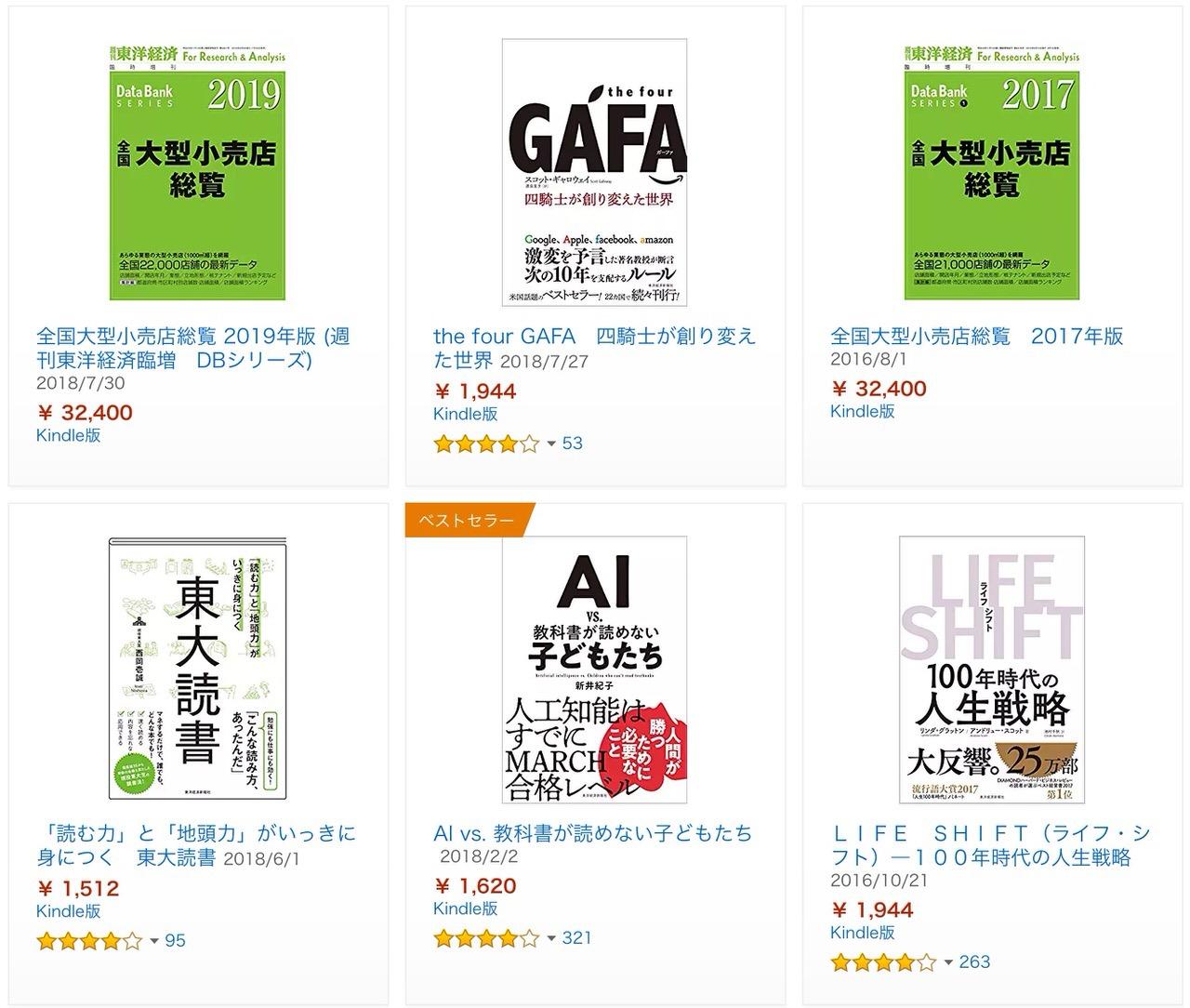【Kindleセール】2,000冊以上が対象!全点40%ポイント還元「東洋経済新報社キャンペーン」(11/25まで)