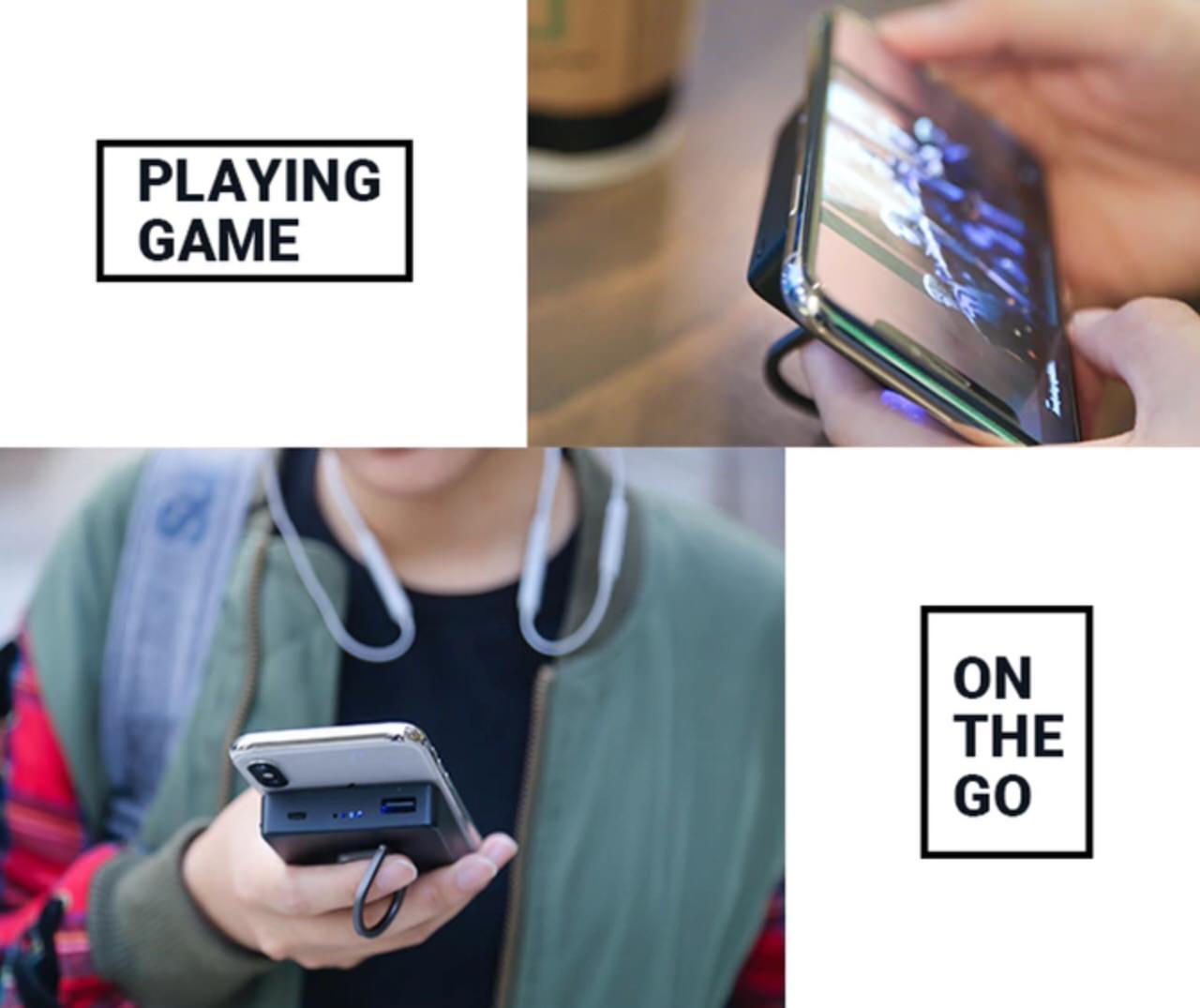 iPhoneに吸い付くワイヤレスのモバイルバッテリー「TinyJuice」