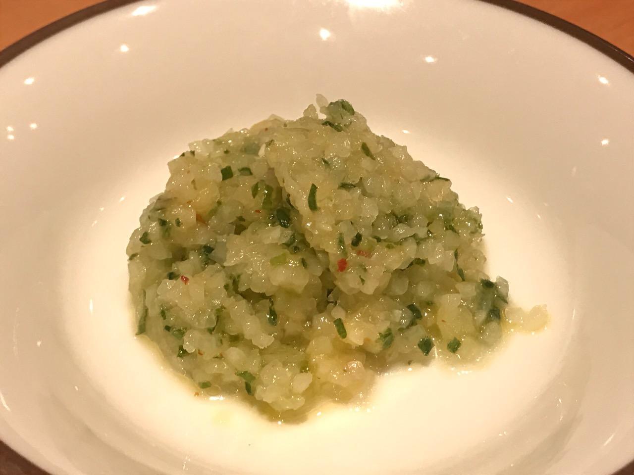 単品の野菜ソース