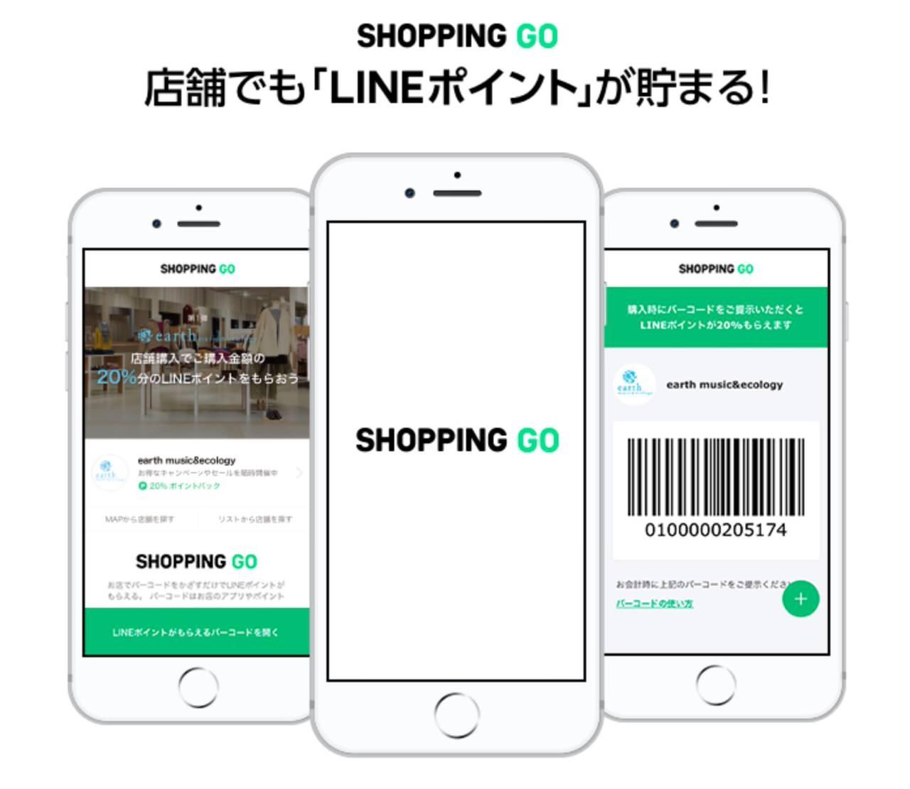 リアル店舗の購入でLINEポイントが貰える「SHOPPING GO」
