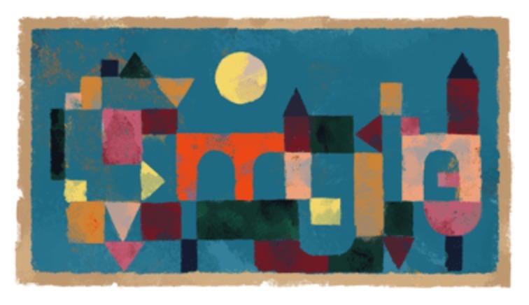 Googleロゴ「パウル・クレー」に