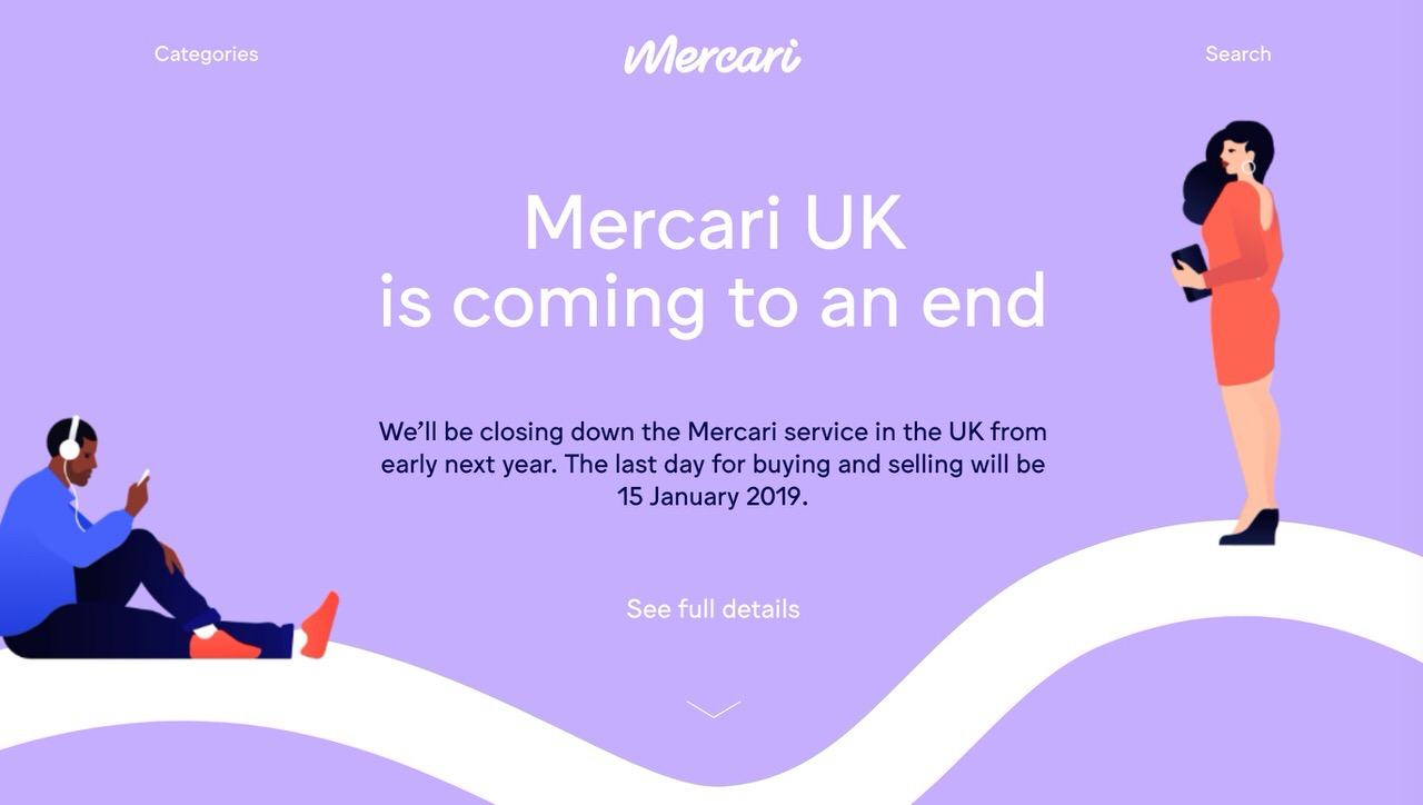 「メルカリ」イギリスから撤退を発表、その理由は?