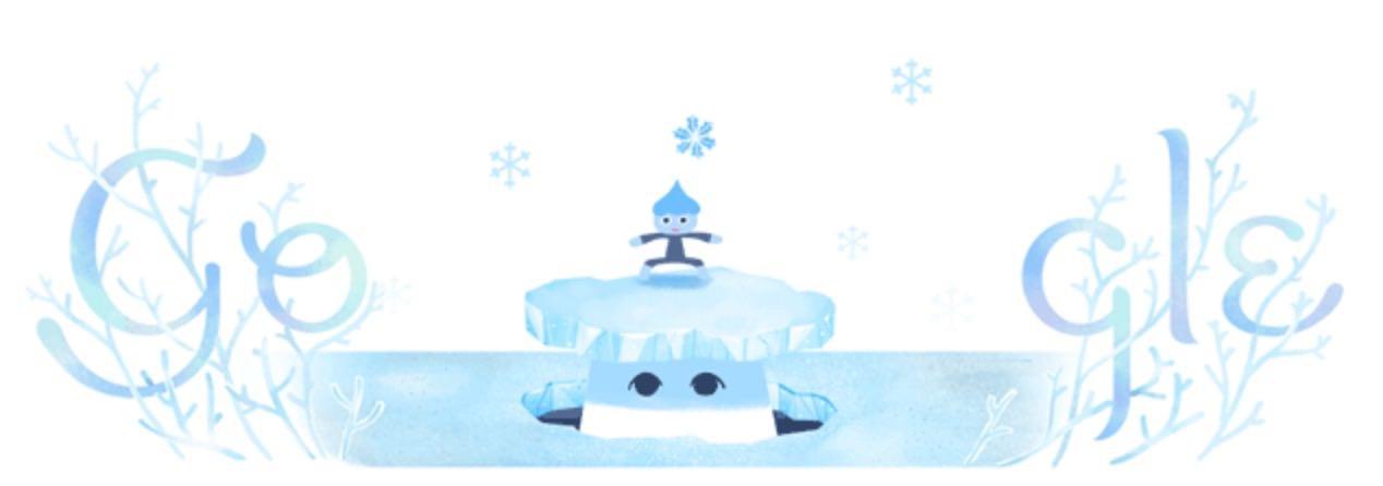 Googleロゴ「冬至 2018」に