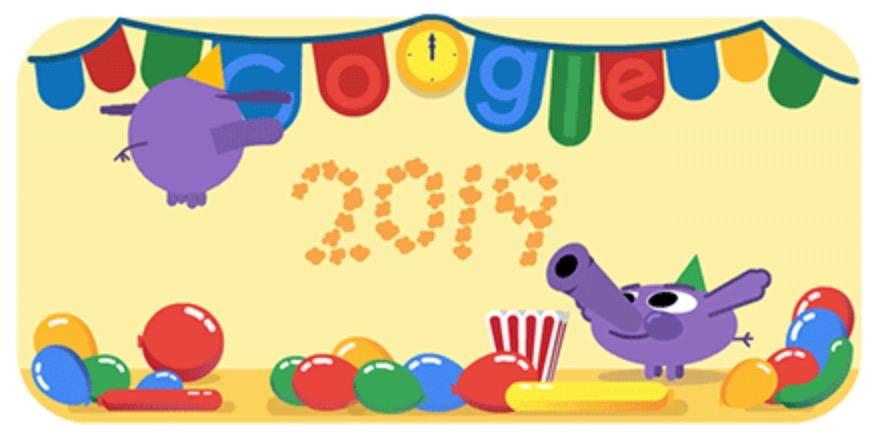 Googleロゴ「元日 2019」に