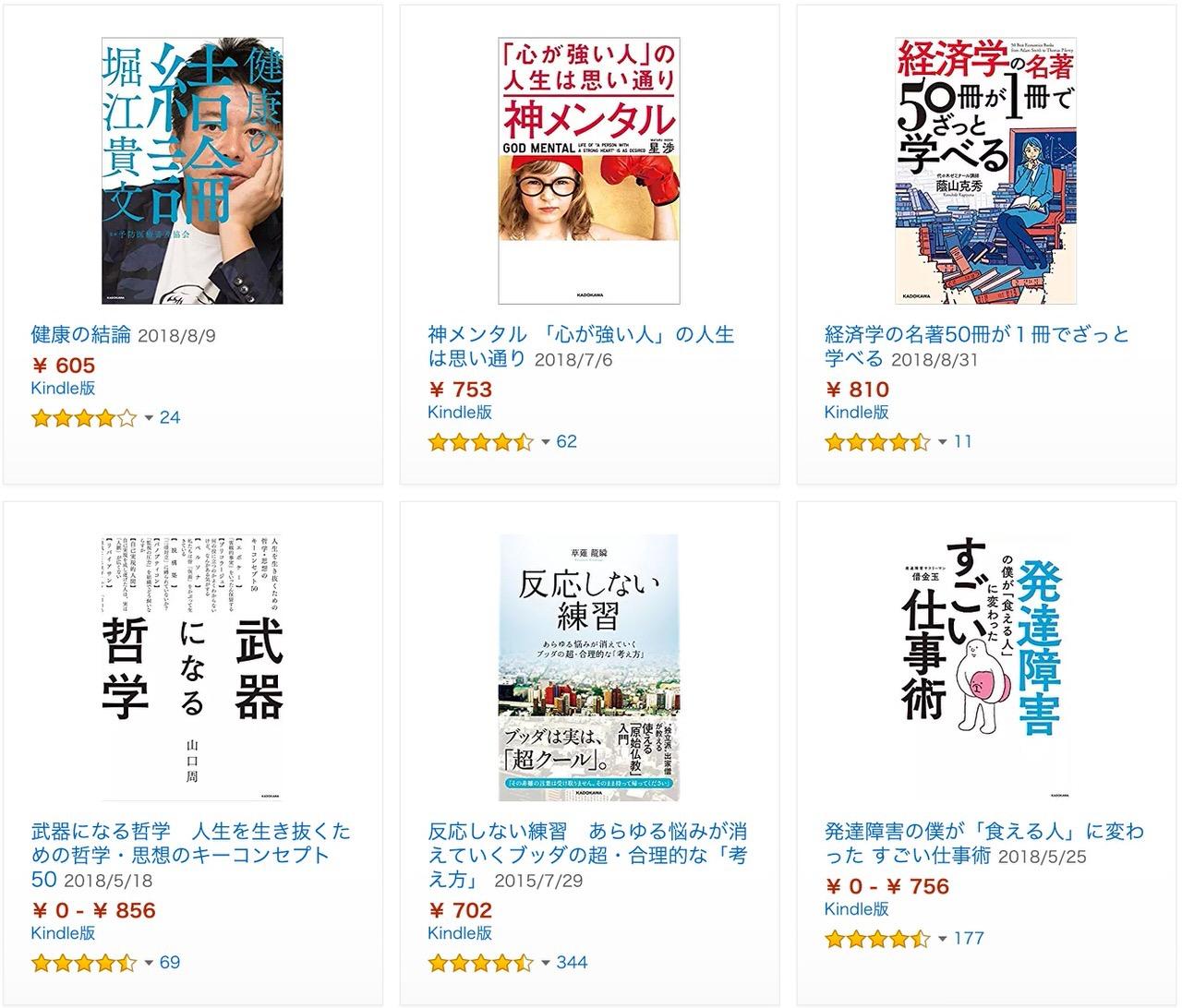 【Kindleセール】KADOKAWA作品7,000冊以上が対象!「50%OFF」Kindle本 新春セール @mehori ライフハック大全も(1/17まで)