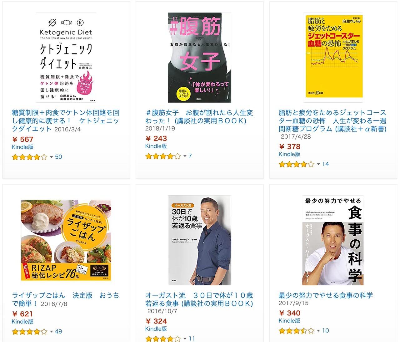 【Kindleセール】最大70%OFF「冬☆電書2019」ダイエット本フェア(1/24まで)