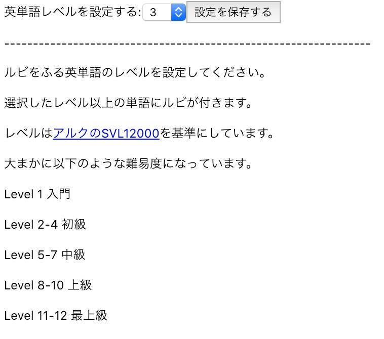 英単語の上に日本語の意味を表示するGoogle Chrome機能拡張「Read Ruby」