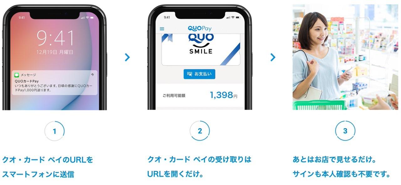「QUOカードPay」QUOカードがデジタルギフトに