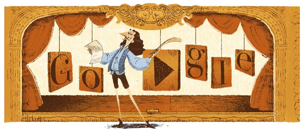 Googleロゴ「モリエール」に