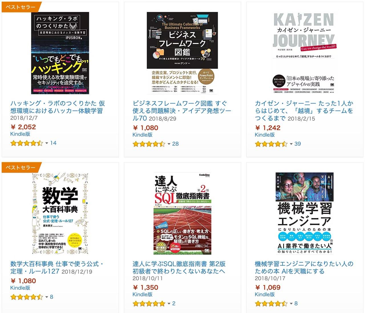【Kindleセール】1,000点以上が対象!50%OFF「翔泳社祭」(2/15まで)