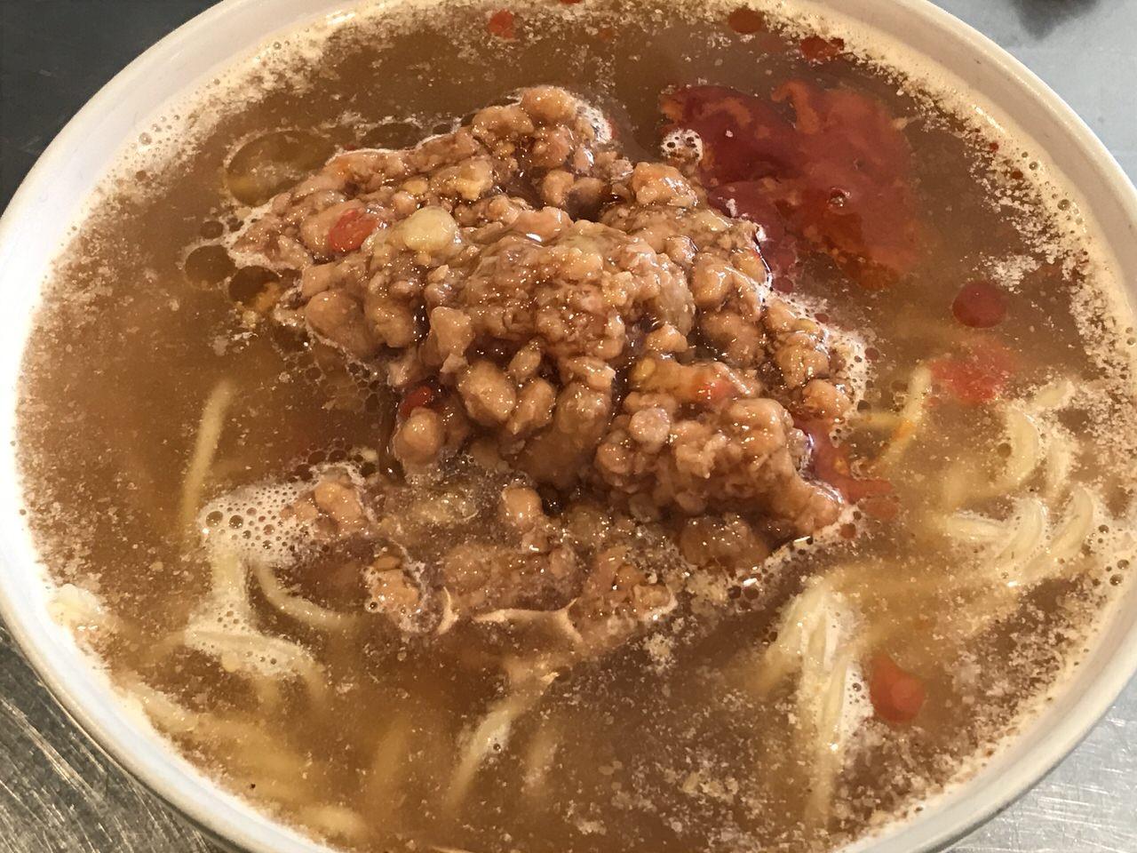 いなばのガパオ缶とラ王でなんちゃって担々麺 3