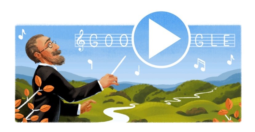 Googleロゴ「ベドルジハ・スメタナ」に