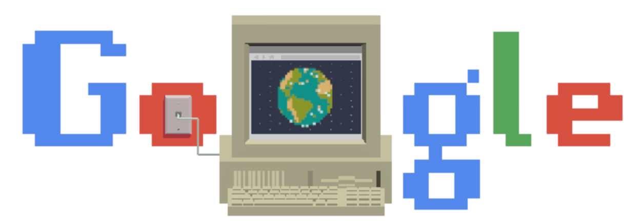 Googleロゴ「ワールド ワイド ウェブ」に