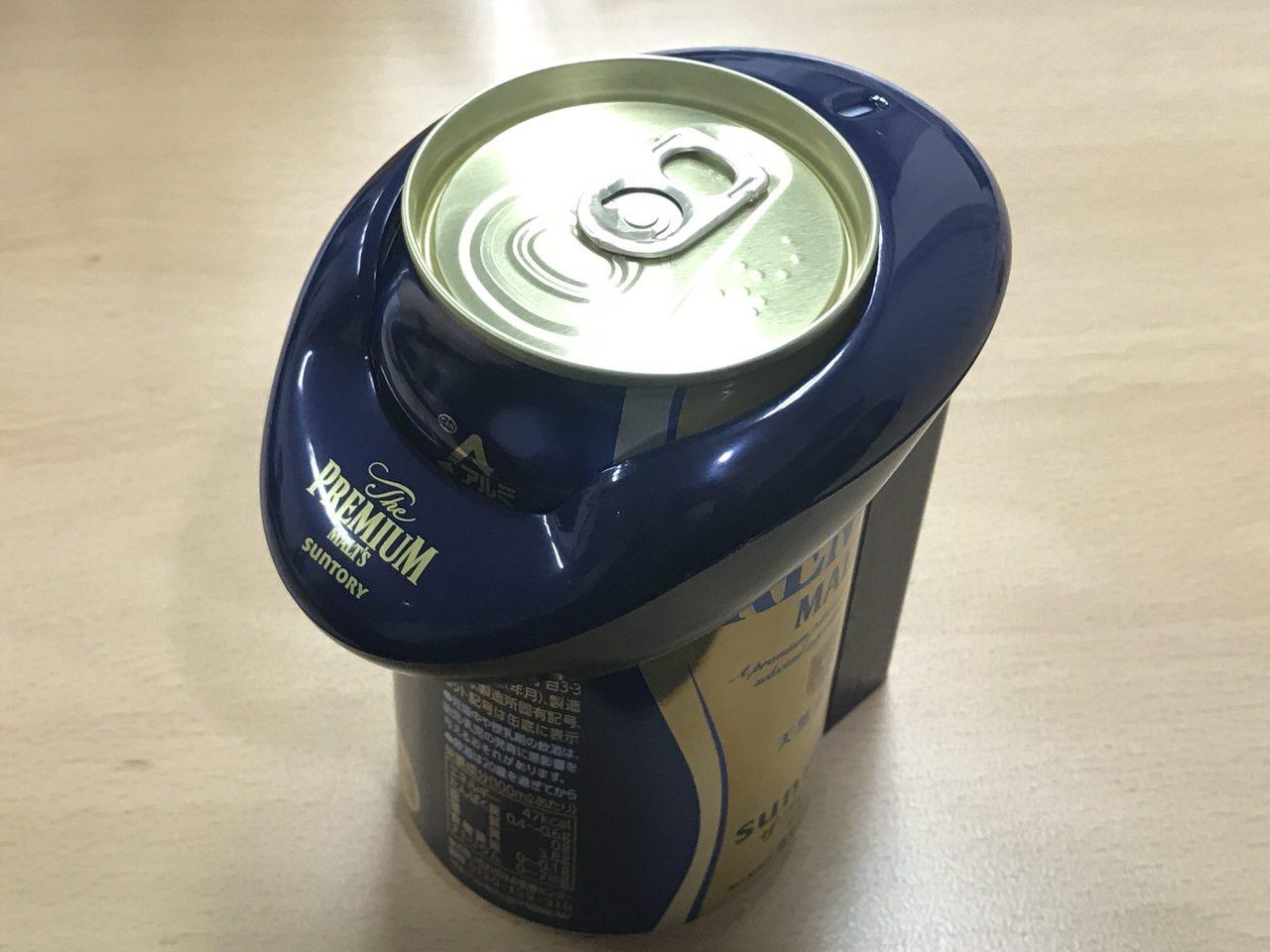 神泡サーバー2019 缶ビールに装着