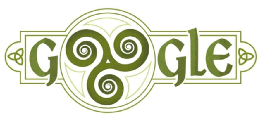 Googleロゴ「セントパトリックデー」に