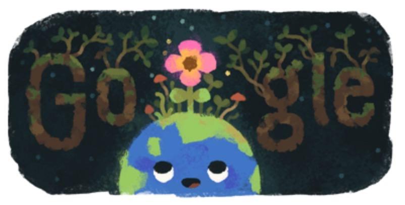 Googleロゴ「春分の日」に