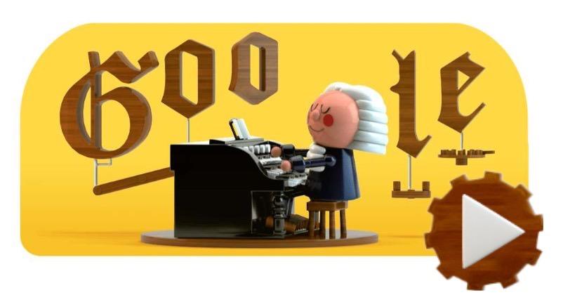Googleロゴ「ヨハン・ゼバスティアン・バッハ」適当に音符を並べるとAIがまさかのバッハ調アレンジを敢行