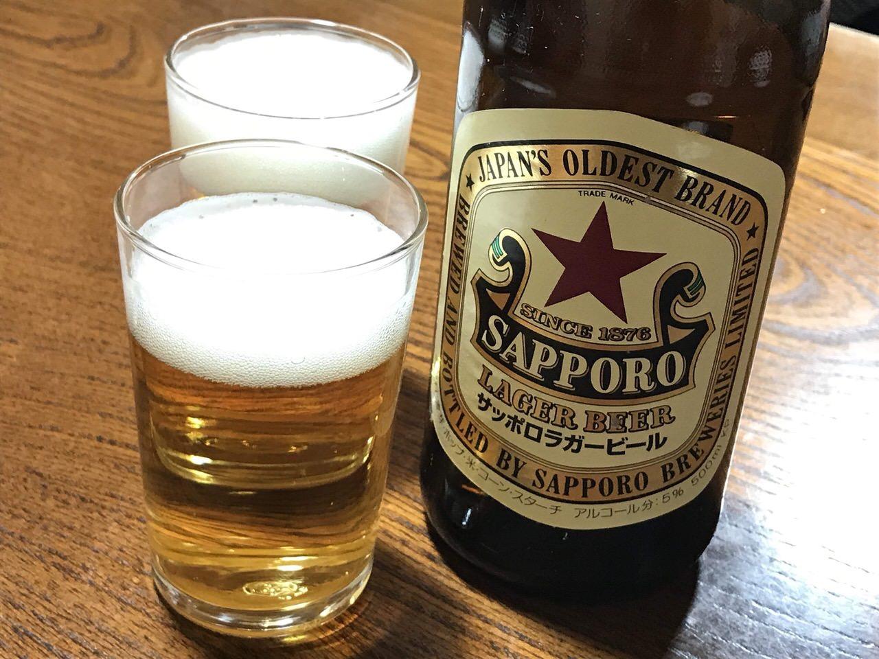 小政寿司 魚津 赤星 ビール大瓶