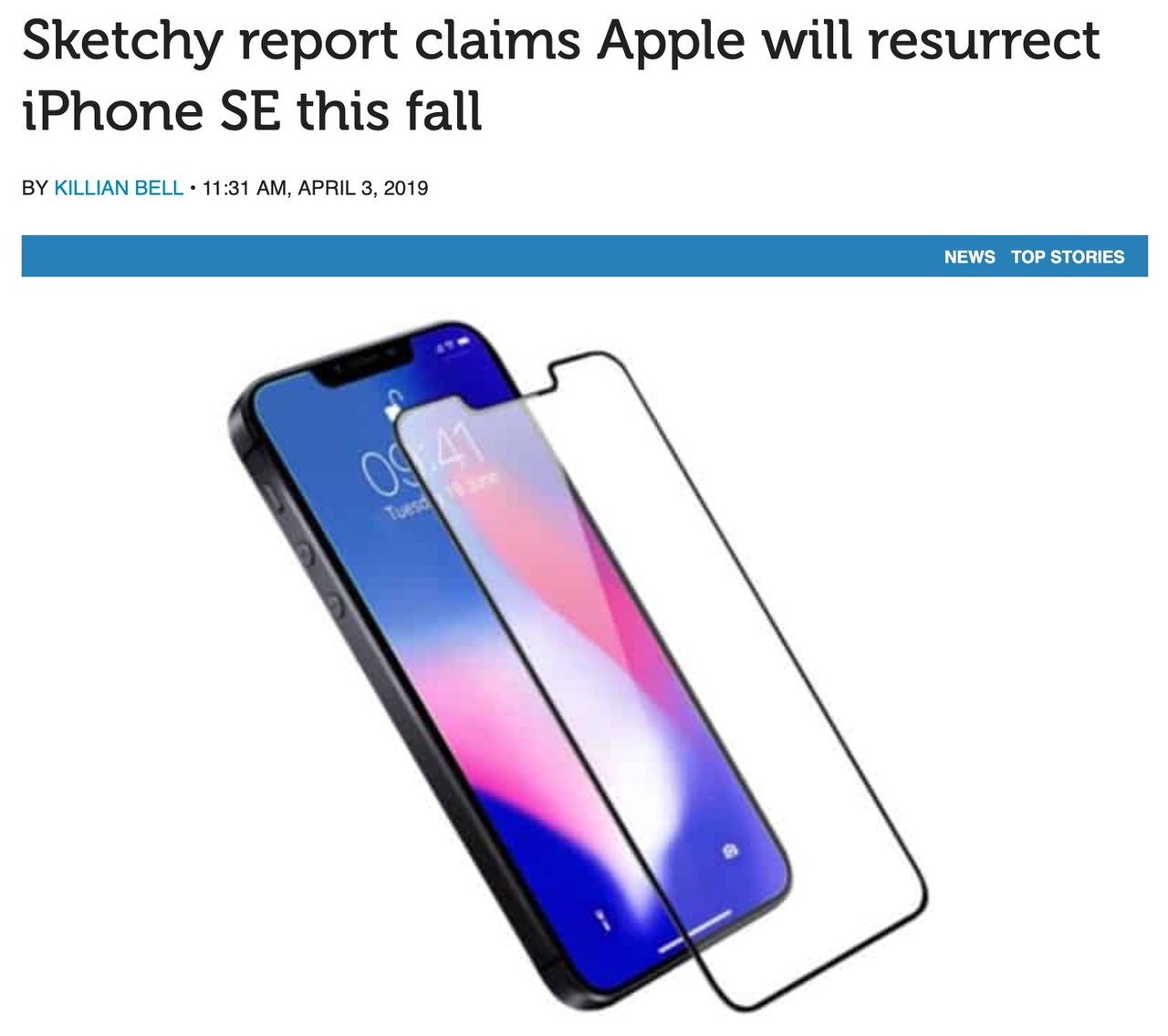 「iPhone XE」iPhone SE後継モデルとして4.8インチOLED&A12 Bionic搭載で2019秋にリリースか?