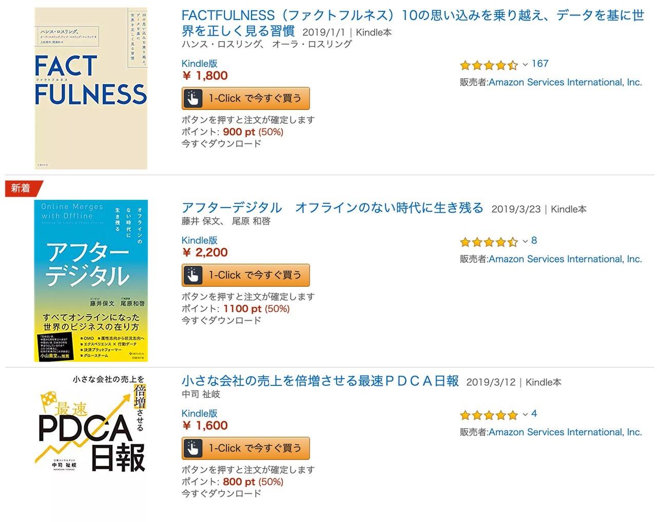 【Kindleセール】ファクトフルネスも含む2,000冊以上が対象「日経BP 50周年記念フェア」(4/7まで)