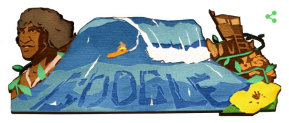 Googleロゴ「エディ・アイカウ」に