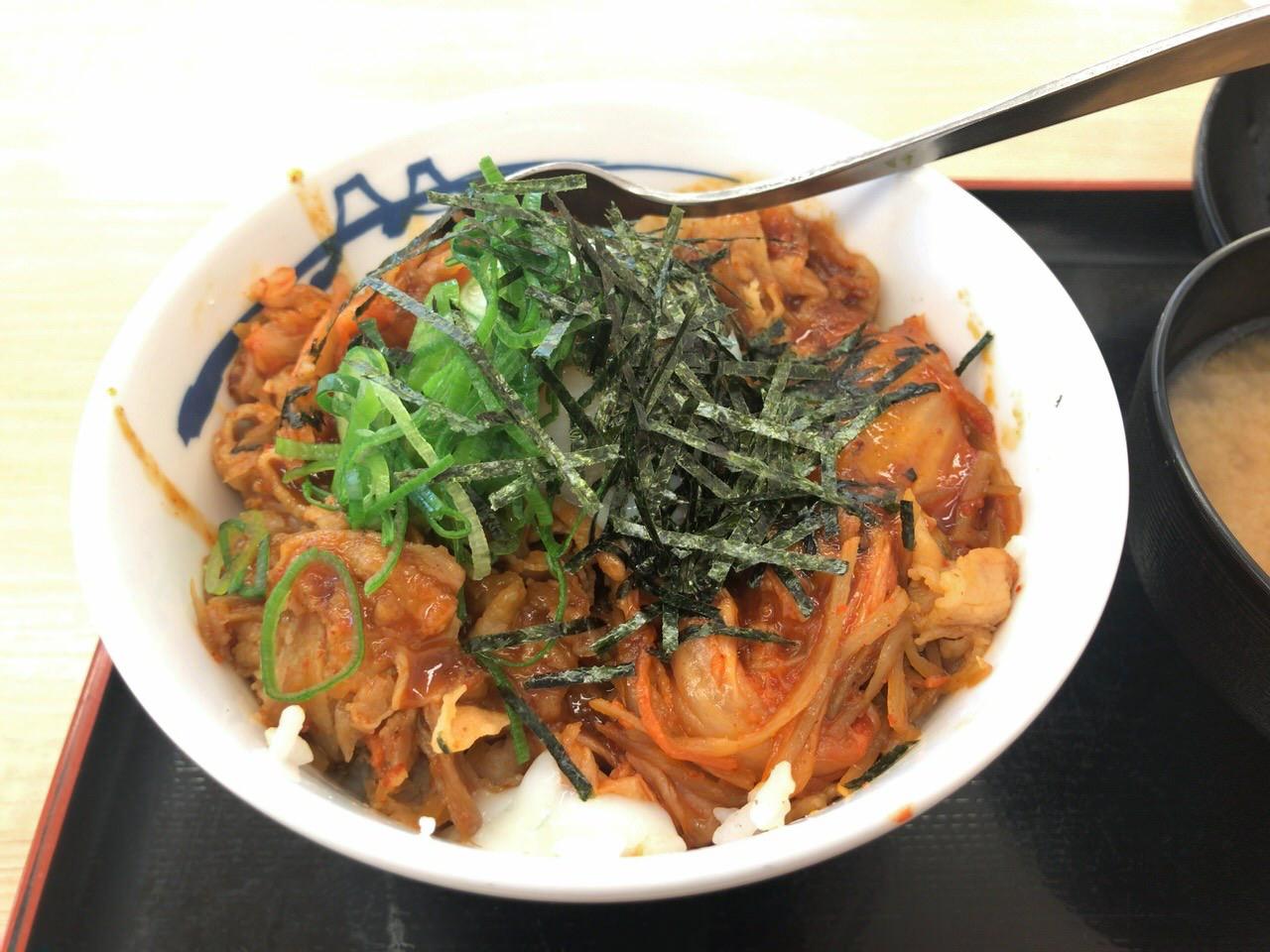 松屋 豚ビビン丼 3